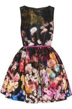 RED Valentino|Floral-print taffeta dress