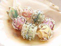 7 Handmade Lampwork Beads by IrinaS on Etsy