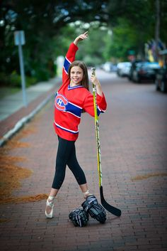 hockey dance girl photo shoot... This is so cute!! I think it's important to teach girls that yes, they can play an aggressive sport and be good at it, and still be as girly as they choose... Always be who you are ladies!