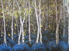 Aspen trees on canvas most beautiful ever!  Must have.