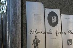 Interpretative signage, Convict coal mines, Tasman Peninsula Tasmania
