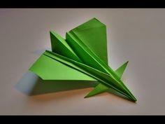 Como hacer un avion de papel realista que vuela - YouTube