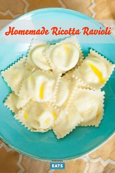 Easy homemade pasta with fresh ricotta filling.