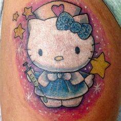 Hello Kitty Tattoos, Cat Tattoo, Tattoos For Women, Tatting, Tattoo Designs, Fictional Characters, Art, Art Background, Female Tattoos