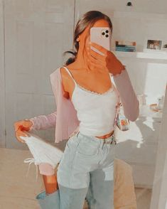 Edited by: alannahcartier_ Indie Outfits, Teen Fashion Outfits, Retro Outfits, Girly Outfits, Simple Outfits, Outfits For Teens, Stylish Outfits, Summer Outfits, Teenager Outfits
