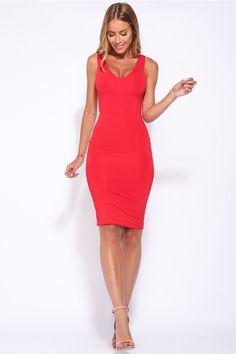 HelloMolly | Even Flow Midi Dress Red