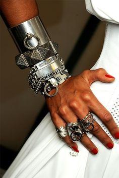 Ashley- layered chunky jewelry