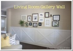 Gallery wall with barn wood frames