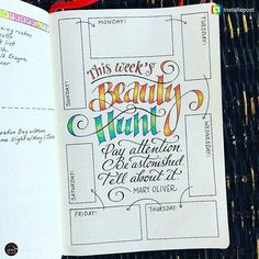"""Beautiful idea and page from @jtraftonart. Repost: I've been in a quagmire of anxiety about the world recently so for the next week I'm taking my cue from my friend Debbie, who regularly goes on """" beauty hunts"""" with her daughters. ."""