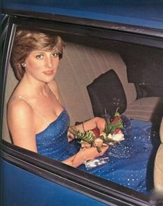 An early photo of Lady Di.