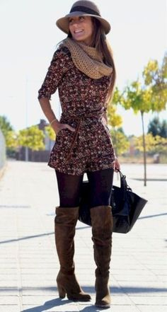 Elegant winter outfits ideas with leggings 34