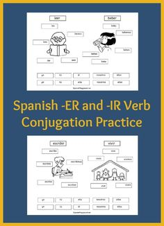 Spanish verb practice for kids with cut-and-paste printable pages. Kids match pronouns to verb forms and make lift-up tabs to practice -er and -ir verbs. Learn Spanish Free, Spanish Lessons For Kids, Learning Spanish For Kids, Spanish Basics, Spanish Language Learning, How To Speak Spanish, Teaching Spanish, Spanish 1, Spanish Worksheets