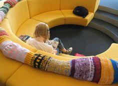 Sunken reading area