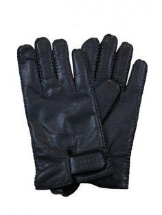050bf33b3457 Hugo Boss Black Kranto 2 Leather Gloves in Black - Northern Threads Black  Leather Gloves
