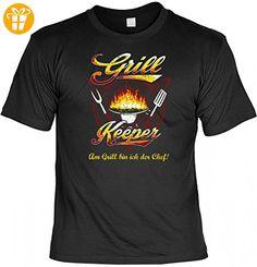 T-Shirt Spruchshirt als Geschenk - Grill Keeper - witziges Motivshirt für den BBQ Meister und Mann zum Geburtstag Humor, Größe:XXL (*Partner-Link)
