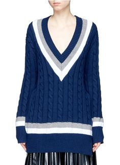 Public School 'Cora' stripe chunky cable knit sweater
