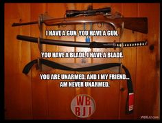 When you know BJJ you are never unarmed