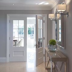 Vermont glazed internal doors are a great way of encouraging light to flow through a home Interior, Home, Casement Windows, Double Doors, Room Doors, Doors Interior, Internal Glass Doors, French Doors Interior, Glass Doors Interior
