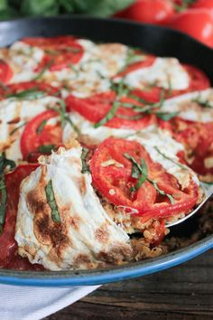 Caprese Quinoa Bake. A simple, fresh, and fabulously delicious meal or side! #SummerSoiree #glutenfree #vegetarian