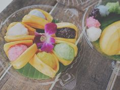 Jackfruit with sticky rice and coconut milk