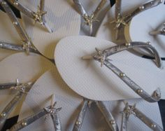 af3ae649142c3c So Sweet Bride Dominique Under the Sea Rhinestone Starfish Bridal Wedding Flip  Flops with Pearls and