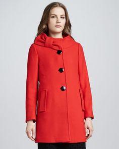 kate spade new york suzette bow-collar coat