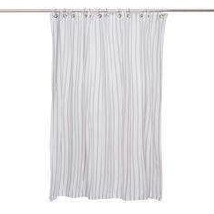 Thin Stripe Shower Curtain Gray by Nine Space   Fab.com