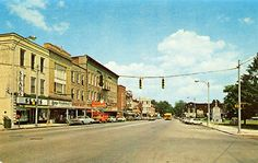 Columbia City Indiana Main Street Van Buren Sears Vintage Postcard 1964.