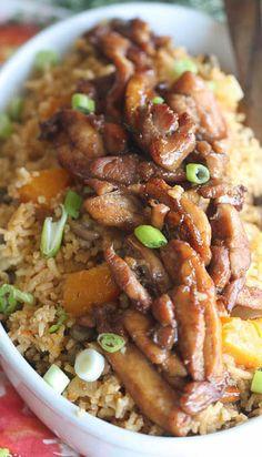 Trinidad Pelau with caramelised chicken. Sounds wonderful, Keva xo.