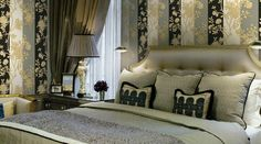 roberto cavalli home 2012 art bed wallpaper Roberto Cavallis first collection of artistic furniture and home accessories Roberto Cavalli, Luxury Wallpaper, Home Wallpaper, Wallpaper Designs, Luxury Home Decor, Luxury Homes, Versace Home, Bedding Inspiration, Interior Decorating