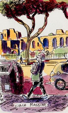 [ #DRAWING ] Circus games - Circo Massimo, #Rome http://lscrnts.fr/QuelCirc #art #travel