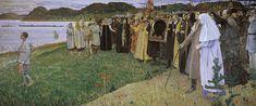 Rus: El Alma del Pueblo de Mijaíl Nésterov, representación simbólica de la búsqueda espiritual histórica de Rusia.