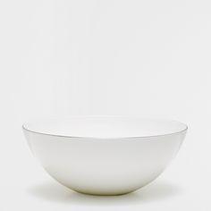 Zara Home Saladier porcelaine bone china filet argenté
