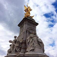 London  #london #uk #royal #queenvictoria #gold #blue #sky by armenimarco