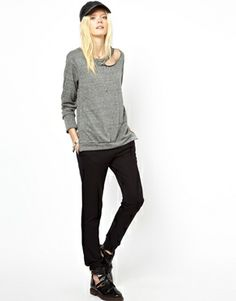 Image 4 of LnA Sweatshirt With Cut Out Detail