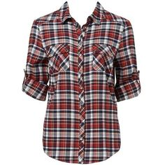 Forever New Laney check shirt (40 AUD) ❤ liked on Polyvore featuring tops, t-shirts, shirts, blusas, button down shirts, plaid t shirt, plaid shirts, cotton shirts and checkered shirt
