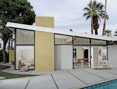 Love the palette and the blend of modernism with the desert landscape