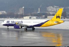 Airbus A321-231, Monarch Airlines, G-OZBR, cn 1794. Innsbruck, Austria, 3.1.2016.