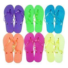 a6df3e3019a Women s Assorted Solid Neon Color Flip Flops - Sizes S-XL Item    6049-FFL9