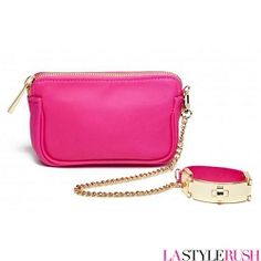 """This Victoria Wristlet bag by CC Skye features a detachable cuff that can be work on its own as a bracelet when removed. If you love the style of this bag, you will love every piece from her neon collection! * Width: 7"""" x Height: 4"""" x Depth: 2"""" x Chain Length: 15""""      * Bracelet Size: 8"""" Long / 1"""" Wide      * Bracelet is twist lock closure      * Detachable cuff that can be worn as bracelet      * 18K gold plated hardware      * Fully lined with inner pocket      * Secure top-zip closure"""