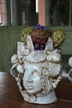 Testa da carciofo #ceramicacaltagirone #mori #vasi #contemporary #king