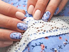 56 Must-Try Trendy and Gorgeous Light Blue, Sky Blue Nails Designs in Fall and Winter - Spring Nails Spring Nail Art, Nail Designs Spring, Spring Nails, Summer Nails, Nail Art Designs, Fall Nails, Light Blue Nail Designs, Flower Nail Designs, Fall Designs