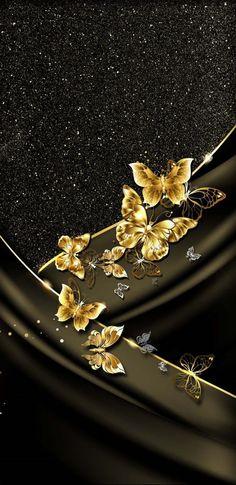 Gold Wallpaper Butterfly, Bling Wallpaper, Flower Phone Wallpaper, Phone Screen Wallpaper, Locked Wallpaper, Pastel Wallpaper, Butterfly Art, Cellphone Wallpaper, Cool Wallpaper