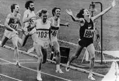 John Walker from New Zealand wins the Gold medal 1500m Montreal Olympics 1976