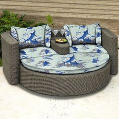 All weather wicker daybed - let's stick it in the garden so we can have coffee