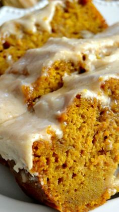 The BEST Pumpkin Bread with Brown Butter Maple Icing ~ Perfectly spiced, moist and tender, this Pumpkin Bread will soon become a family favorite!