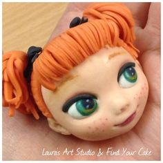 Sculpting with fondant #2: Frozen Anna baby by Animators Collection - Modelling the face - CakesDecor