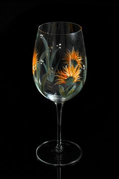 Hand Painted Wine Glasses II by BFLCreativeDesigns on Etsy