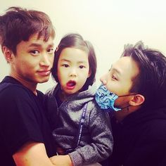 G-DRAGON's Instagram with Tablo and Haru 140504 :: @mimzie fernandez, look! Haru is sure one lucky kid. ♥