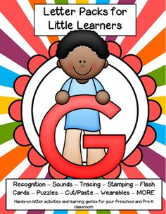 LETTER G Letters for little learners, 62 pg. - recognition, sound, tracing and craftivities. Low prep. Appropriate for pre-readers